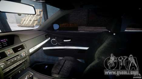 BMW M3 E92 stock for GTA 4 inner view