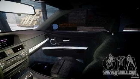 BMW M3 E92 stock for GTA 4 inner view
