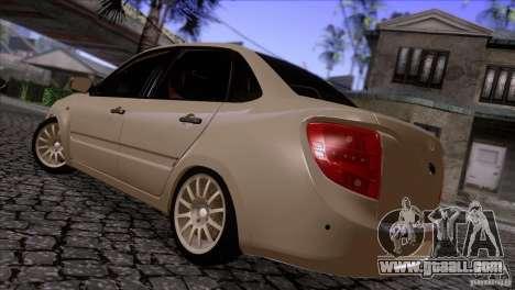 VAZ 2190 Granta for GTA San Andreas back left view