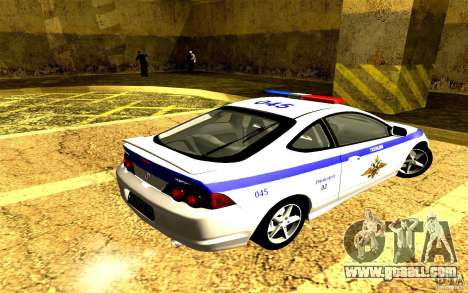 Acura RSX-S Police for GTA San Andreas left view