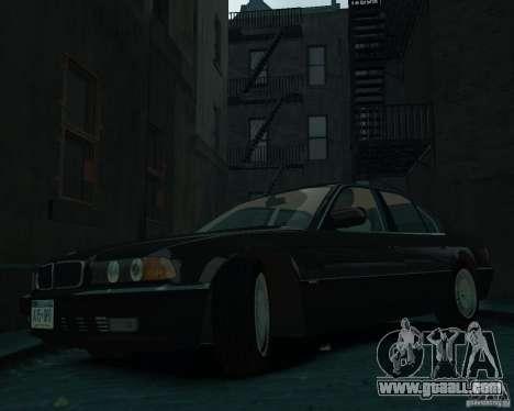 BMW 750i E38 1998 for GTA 4