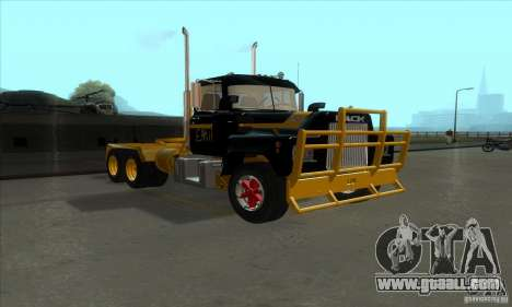 Mack R600 for GTA San Andreas back left view