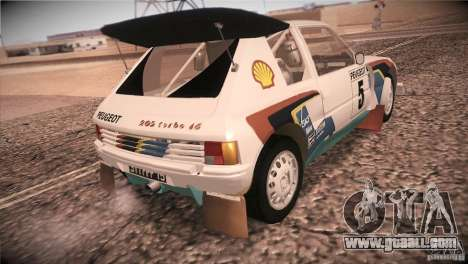 Peugeot 205 T16 for GTA San Andreas back view
