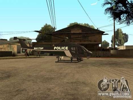 Police Maverick for GTA San Andreas left view