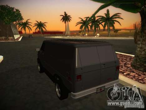 GMC Vandura for GTA San Andreas right view