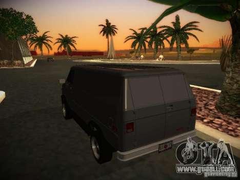 GMC Vandura for GTA San Andreas right view