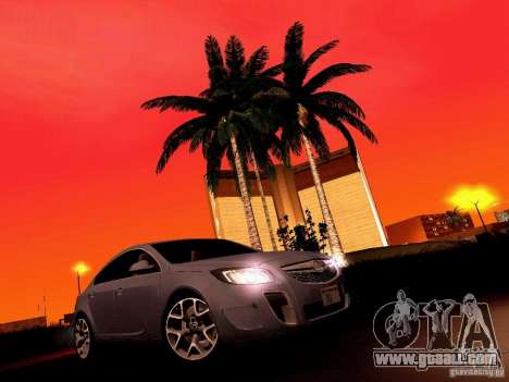 Opel Insignia for GTA San Andreas upper view