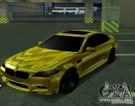 BMW M5 F10 Gold for GTA San Andreas