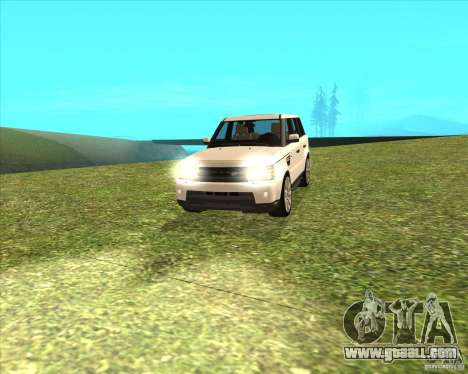 Range Rover Sport 2012 for GTA San Andreas back left view