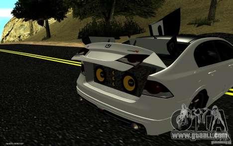 Honda Civic Type R for GTA San Andreas interior
