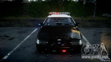 Ford Crown Victoria SFPD K9 Unit [ELS] for GTA 4 upper view