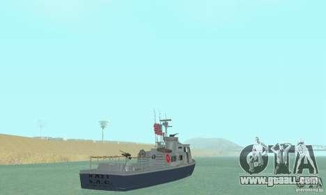 Coast Guard Patrol Boat for GTA San Andreas left view