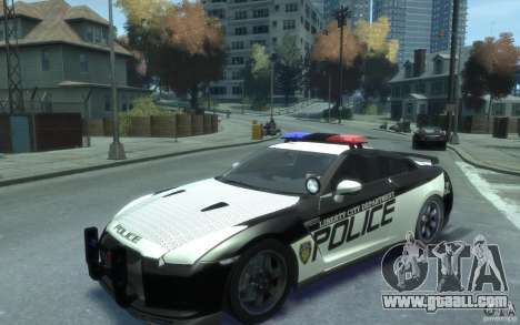 Nissan GT-R R35 Police for GTA 4