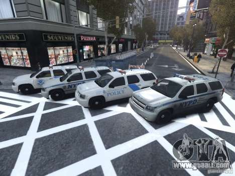 Chevrolet Tahoe Homeland Security for GTA 4 side view
