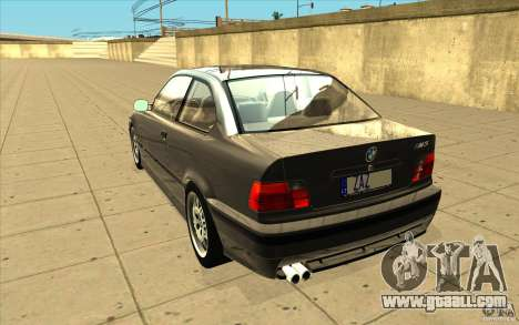 BMW E36 M3 - Stock for GTA San Andreas back left view