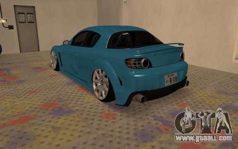 Mazda RX8 VIP for GTA San Andreas back left view