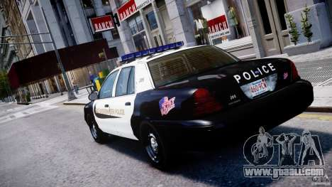 Ford Crown Victoria Massachusetts Police [ELS] for GTA 4 back left view