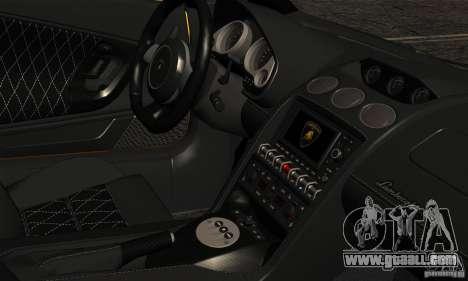 Lamborghini Gallardo LP560-4 for GTA San Andreas back view