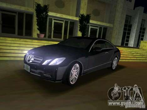 Mercedes-Benz E Class Coupe C207 for GTA Vice City right view