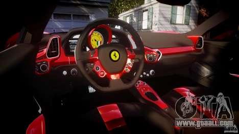 Ferrari 458 Italia Dub Edition for GTA 4 upper view