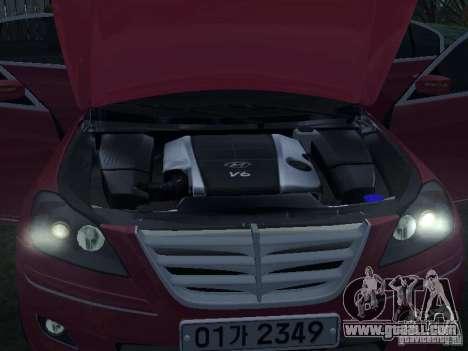 Hyundai Genesis for GTA San Andreas side view