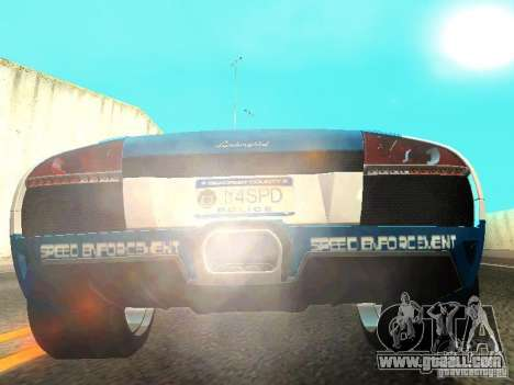 Lamborghini Murcielago LP640 Police V1.0 for GTA San Andreas back view