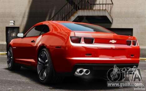 Chevrolet Camaro ZL1 v1.0 for GTA 4 back view