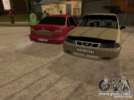Daewoo Nexia for GTA San Andreas bottom view