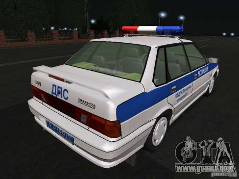 VAZ 2115 Police DPS for GTA San Andreas right view