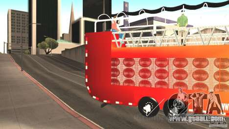 Scania 93H 6x2 Trio Eletrico for GTA San Andreas left view