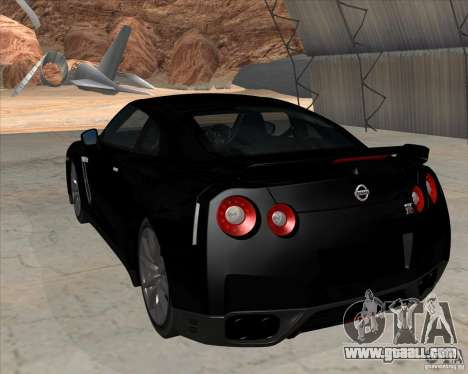 Nissan GT-R R35 for GTA San Andreas left view