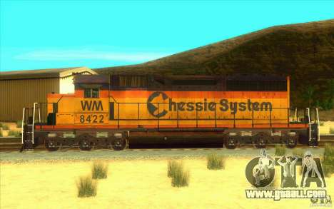 Chessie System sd40-2 for GTA San Andreas left view