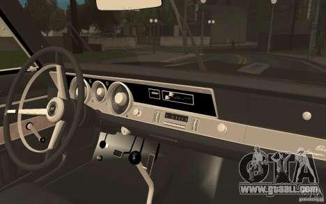 Plymouth Barracuda Formula S for GTA San Andreas back view