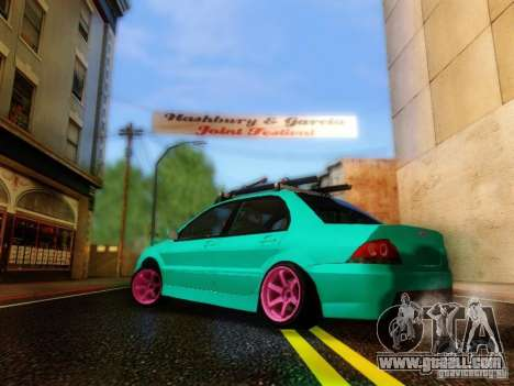 Mitsubishi Lancer for GTA San Andreas left view