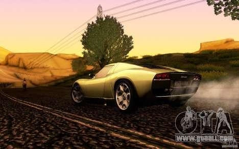 Lamborghini Miura Concept for GTA San Andreas upper view