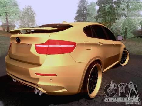 BMW X6M Hamann for GTA San Andreas right view