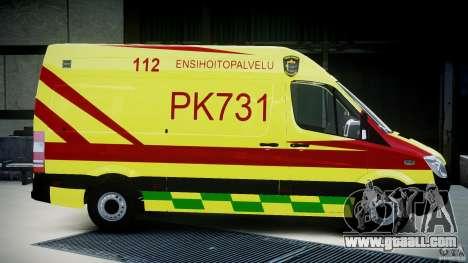 Mercedes-Benz Sprinter PK731 Ambulance [ELS] for GTA 4 inner view