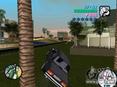 Vaz 2105 for GTA Vice City back view