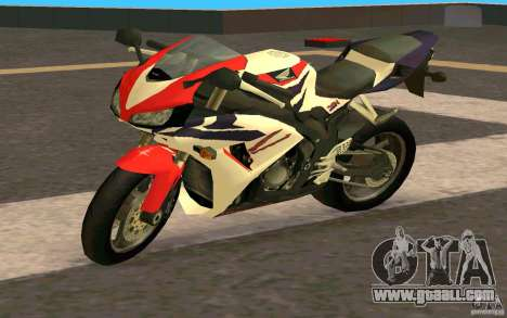 Honda Fireblade 1000RR for GTA San Andreas back left view