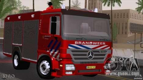 Mercedes-Benz Actros Fire Truck for GTA San Andreas