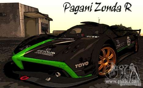 Pagani Zonda R for GTA San Andreas inner view