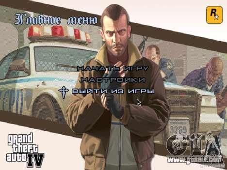 Menu like in GTA IV for GTA San Andreas