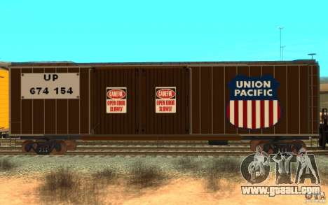 Union Pacific Reefer for GTA San Andreas left view