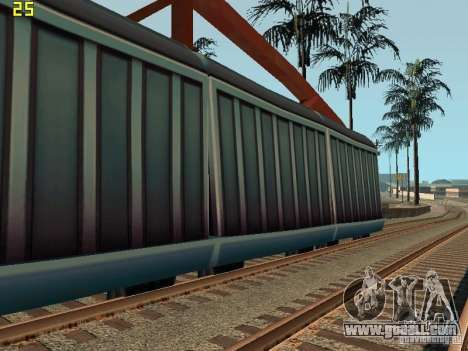 Freight car of the Subway Surfers for GTA San Andreas left view