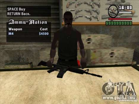 M4 for GTA San Andreas