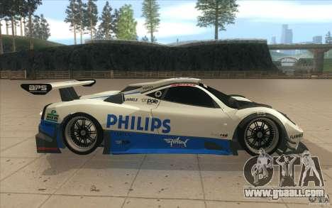 Pagani Zonda Racing Edit for GTA San Andreas inner view