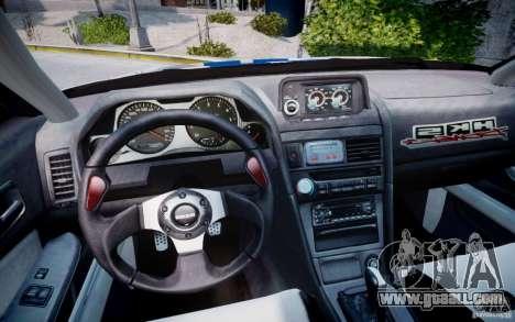 Nissan Skyline GT-R R34 2F2F for GTA 4 back view