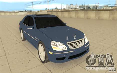 Mercedes-Benz S-Klasse for GTA San Andreas back view