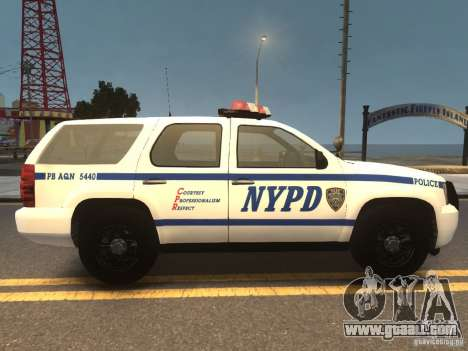 Chevrolet Tahoe NYPD V.2.0 for GTA 4 right view