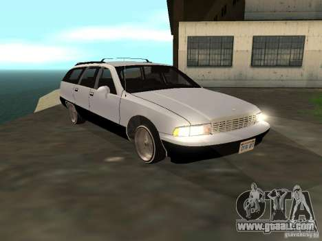 Chevrolet Caprice Wagon 1992 for GTA San Andreas back left view